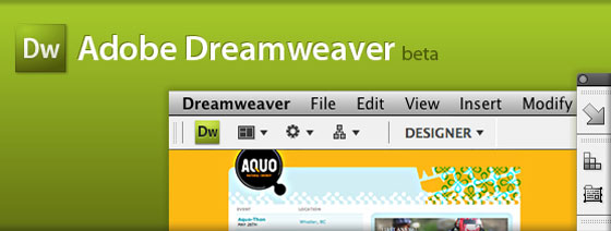 Adobe Dreamweaver CS4 Beta Screenshot