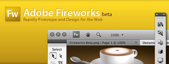 Adobe Fireworks CS4 Beta Screenshot