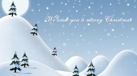 Photoshop Tutorial: We wish you a Merry Christmas Illustration