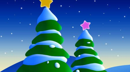Photoshop Tutorial: Drawing Christmas Trees