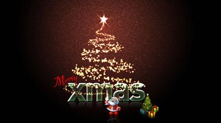 Photoshop Tutorial: Glittery Christmas Card