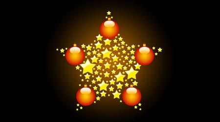 Photoshop Tutorial: Christmas Star Wallpaper