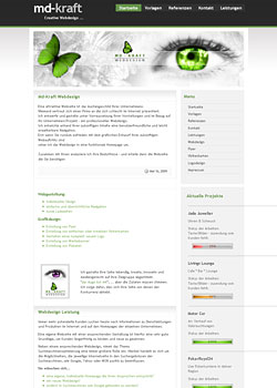 Screenshot md-kraft.de - WebDesign 1