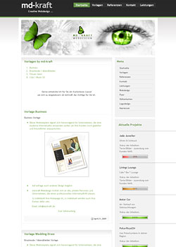 Screenshot md-kraft.de - WebDesign 2