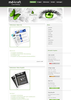 Screenshot md-kraft.de - WebDesign 3