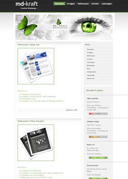 Screenshot md-kraft.de - WebDesign 3