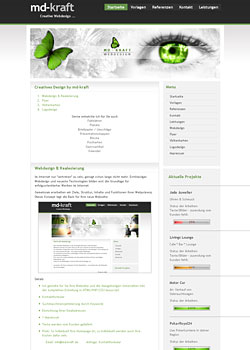 Screenshot md-kraft.de - WebDesign 4
