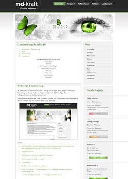 Screenshot md-kraft.de - WebDesign 4