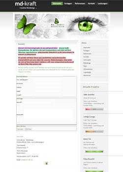 Screenshot md-kraft.de - WebDesign 5