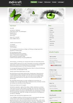 Screenshot md-kraft.de - WebDesign 6