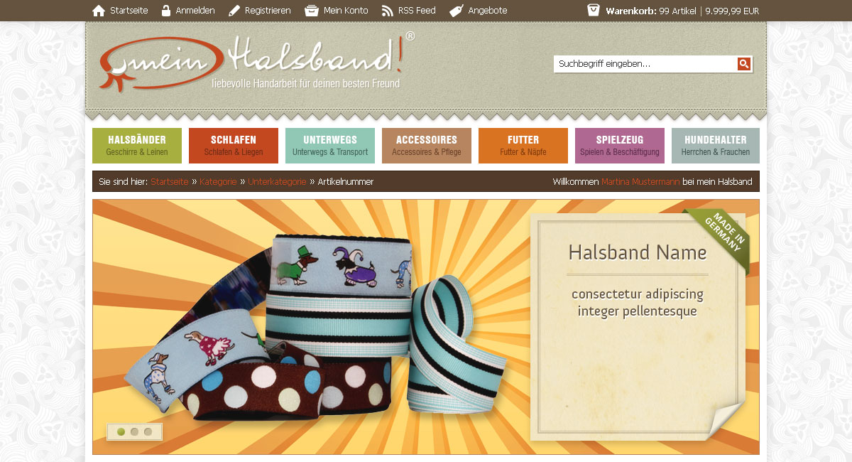 referenzen webdesign xt commerce webshop design seite 1 ulf. Black Bedroom Furniture Sets. Home Design Ideas